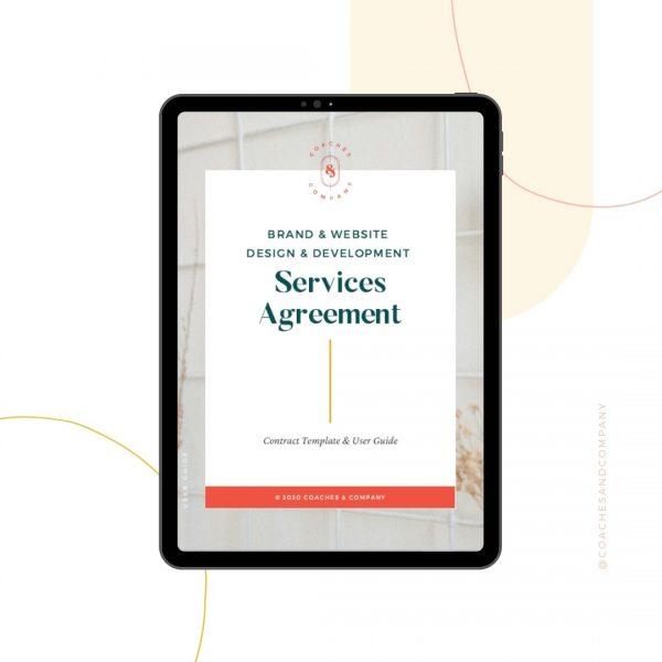 Branding + Web Design/Development Contract Template - Coaches and Company