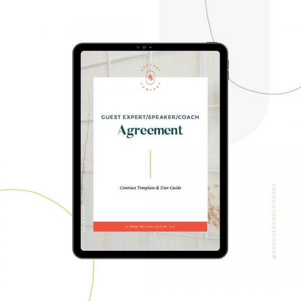 Guest Expert / Coach Agreement Contract Template - Coaches and Company