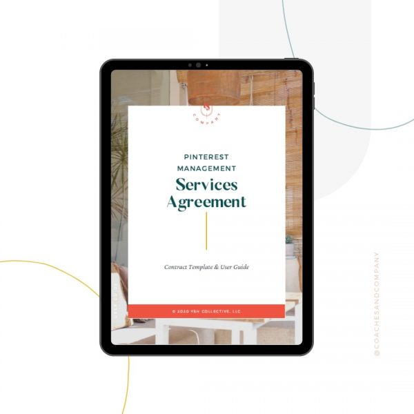 Pinterest Management Contract Template - Coaches and Company