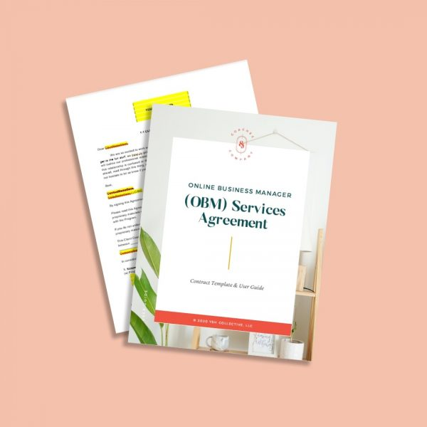 Online Business Management (OBM) Services Contract Template - Coaches and Company