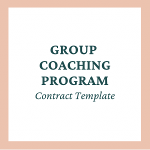 Group Coaching Contract Template - Coaches and Company