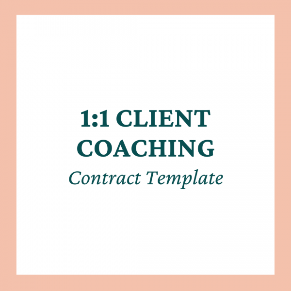 coaches and company 1:1 Client Coaching Contract Template