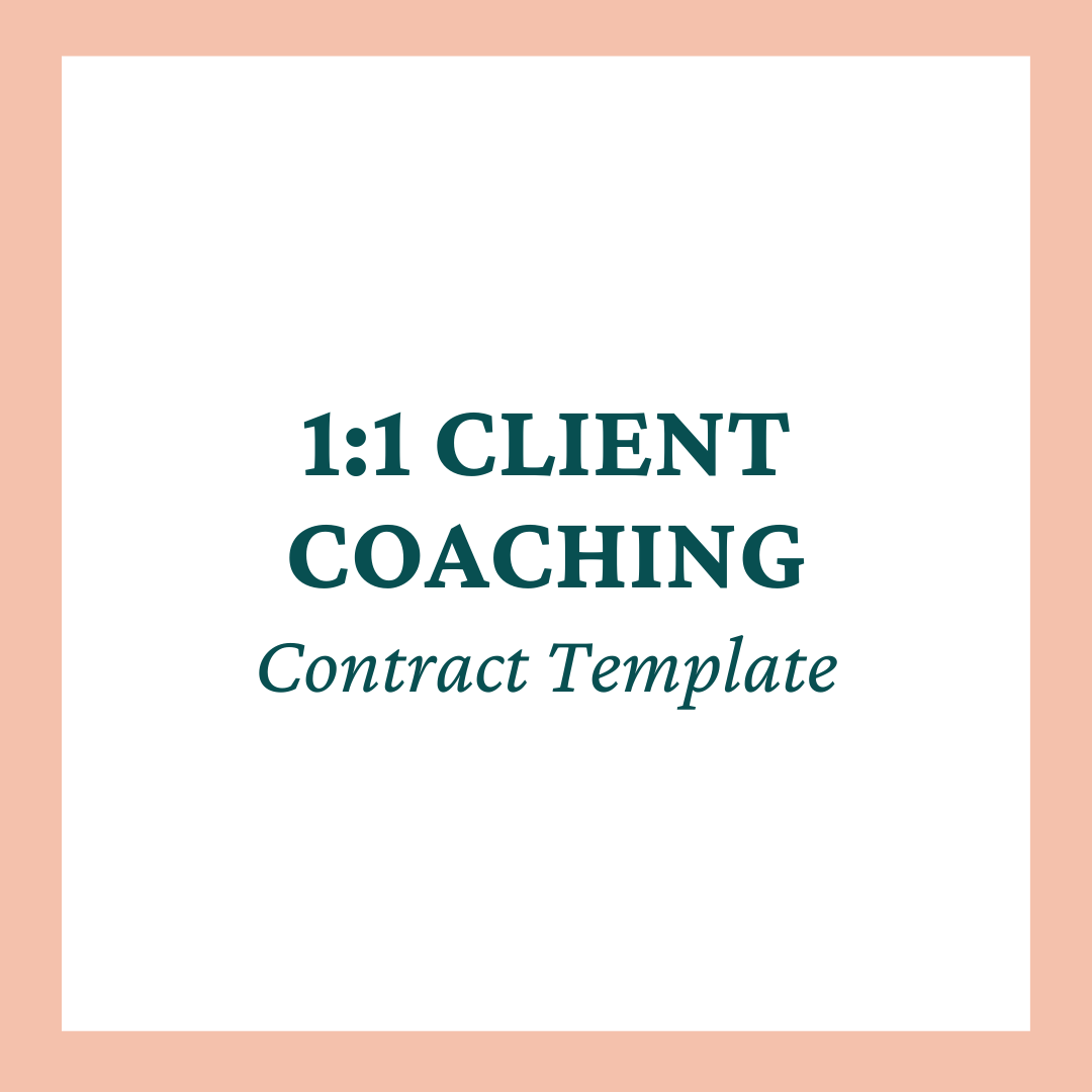 1:1 Client Coaching Contract Template