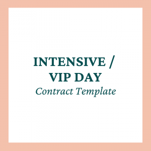 Intensive / VIP Day Contract Template - Coaches and Company
