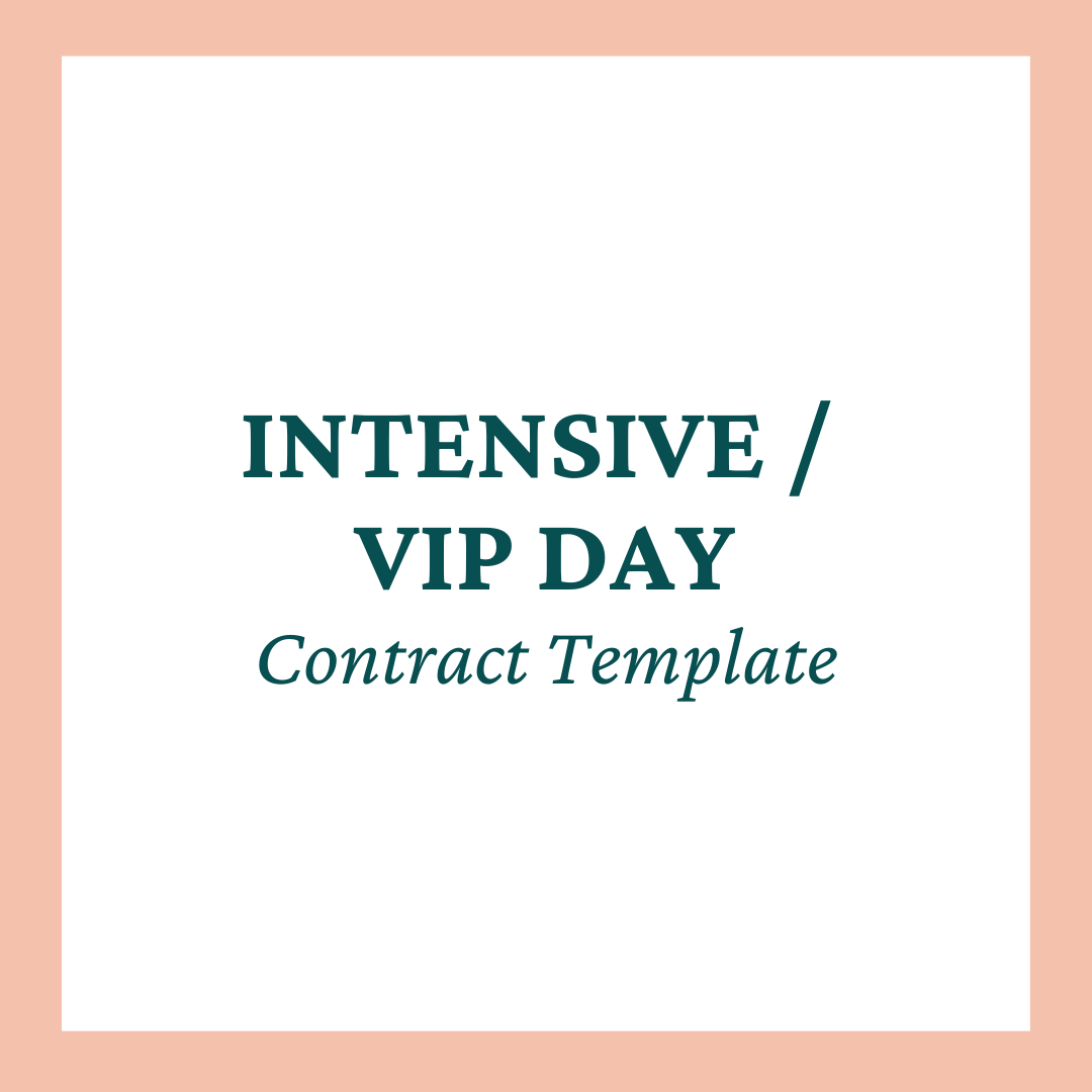 Intensive / VIP Day Contract Template