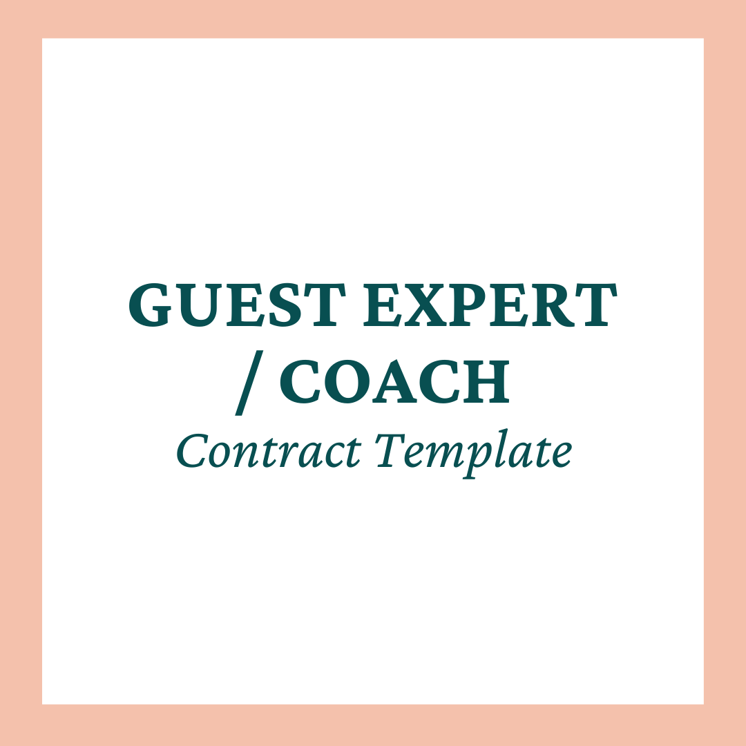 Guest Expert / Coach Contract Template