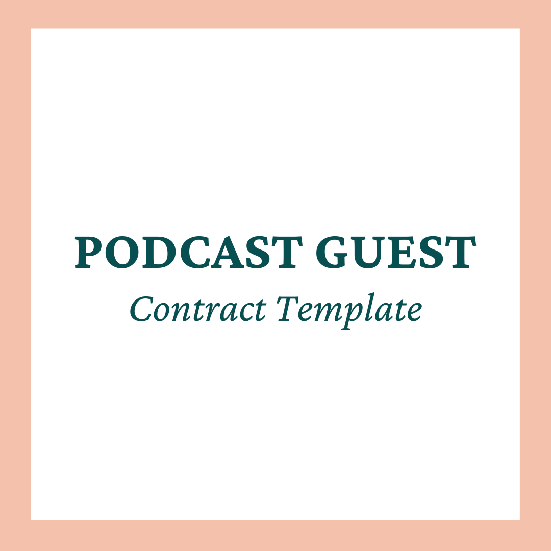 Podcast Guest Contract Template