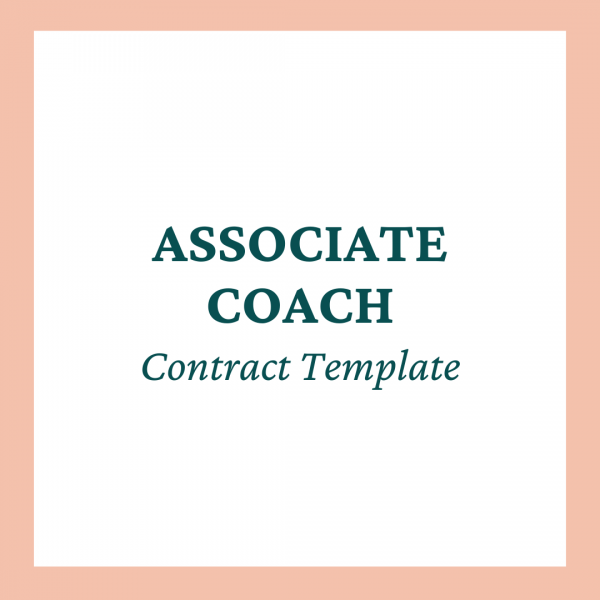Associate Coach / Co-Coach Contract Template - Coaches and Company