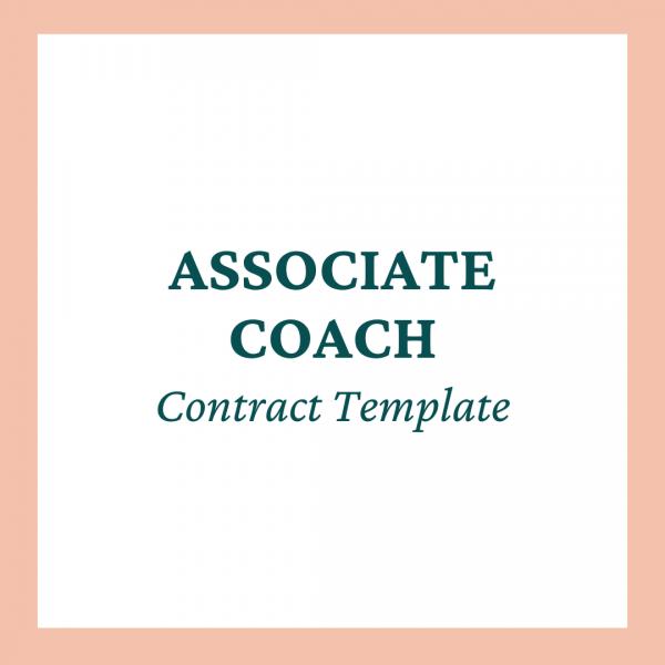 Associate Coach / Co-Coach Contract Template - Coaches and Company