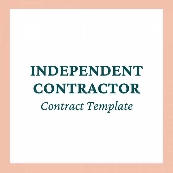 Team Member (Independent Contractor) Contract Template - Coaches and Company