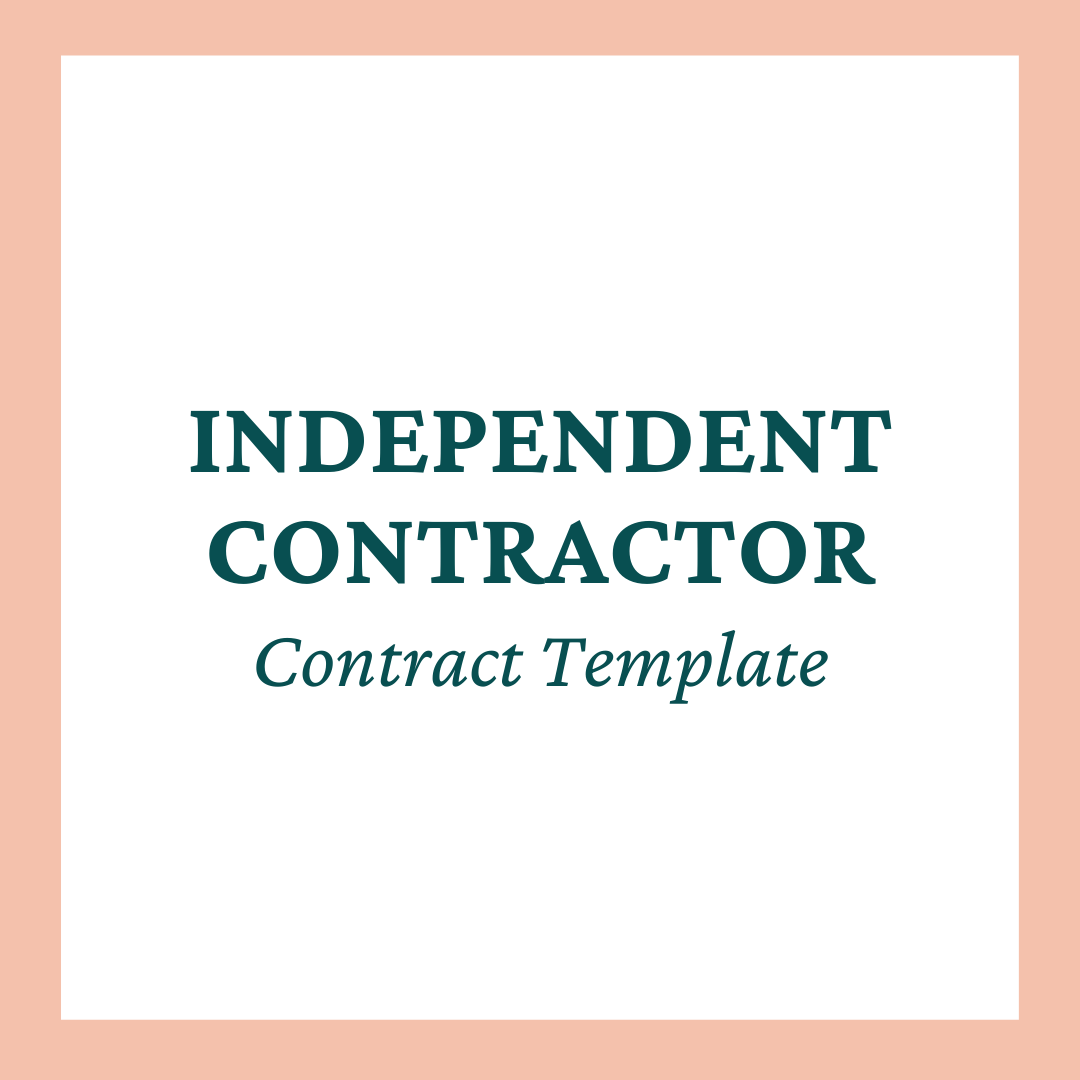 Team Member (Independent Contractor) Contract Template
