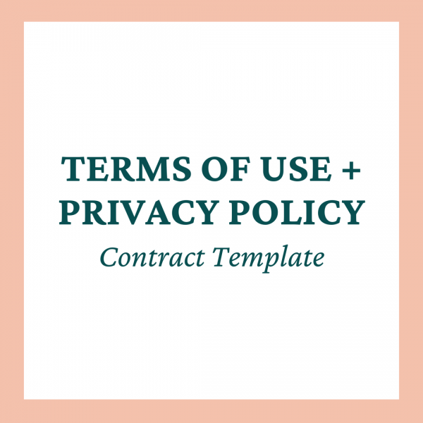 Terms of Use + Privacy Policy Contract Template - Coaches and Company