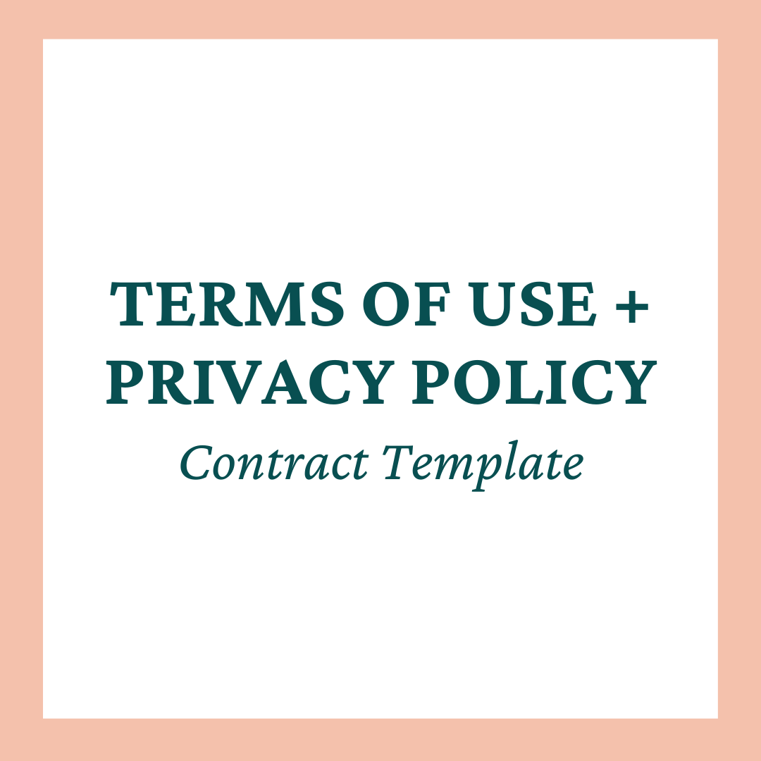 Terms of Use + Privacy Policy Contract Templates