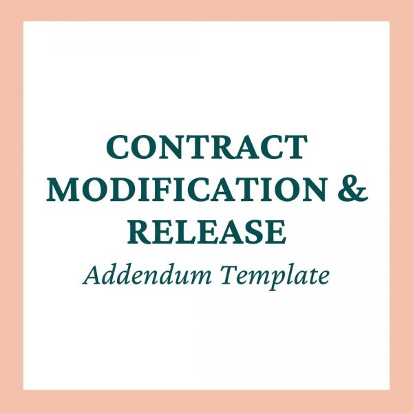Contract Release and Modification Addendum Template Mini-Bundle - Coaches and Company