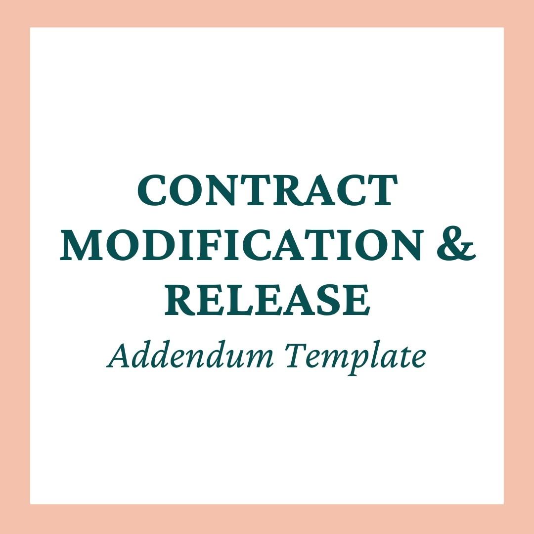 Contract Release and Modification Addendum Template Mini-Bundle