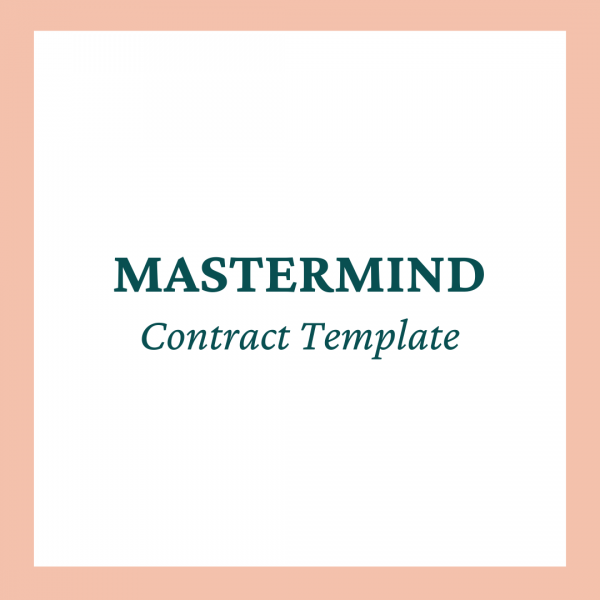 Mastermind Program Contract Template - Coaches and Company
