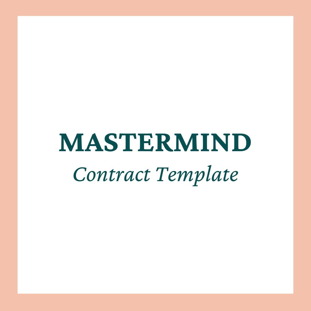 Mastermind Program Contract Template