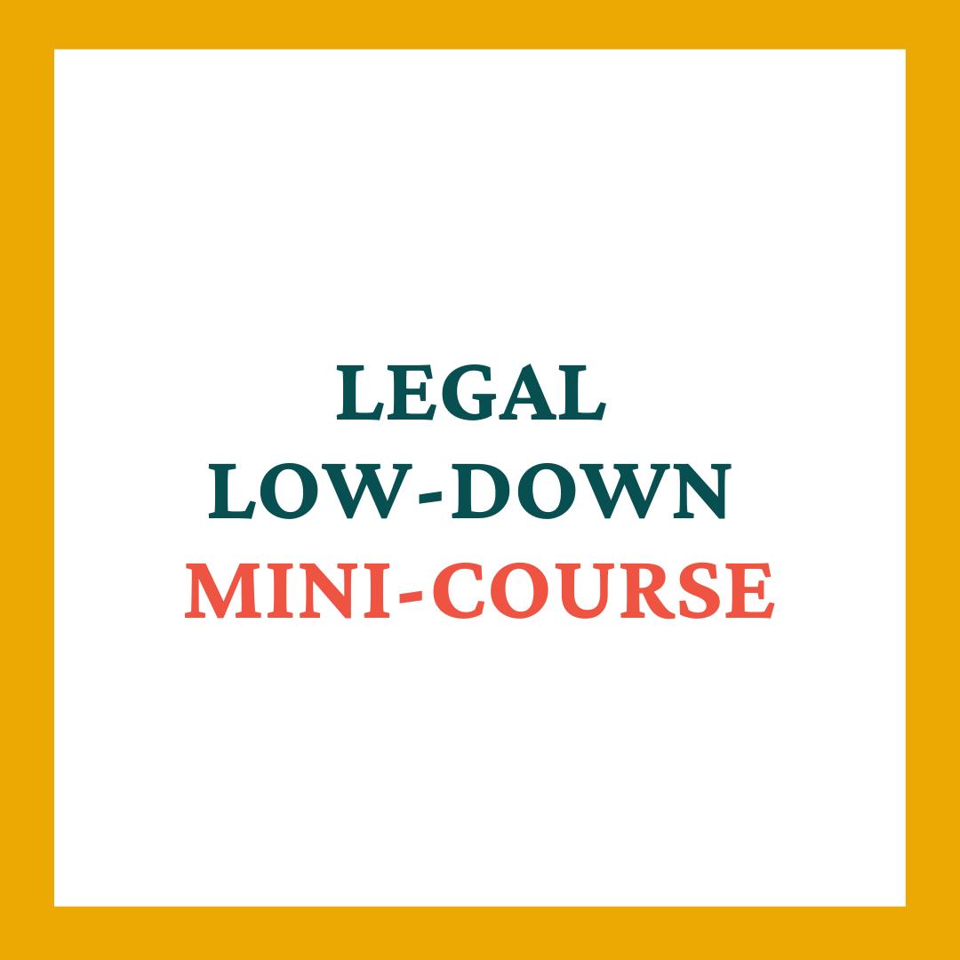 Legal Low-Down Mini-course