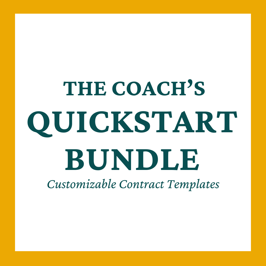The Coach's QuickStart™ Bundle