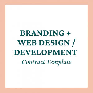 Branding + Web Design/Development Contract Template - Coaches and Company