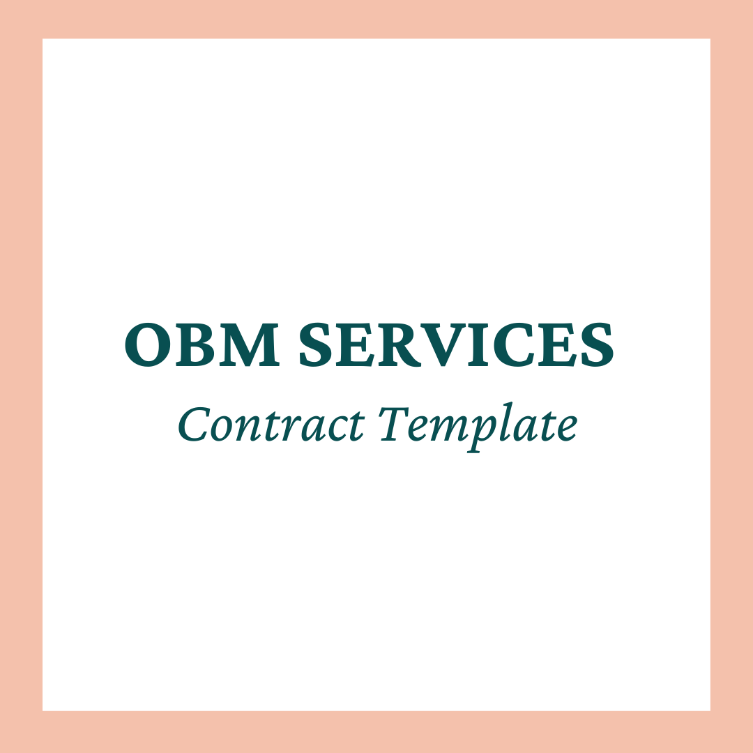 Online Business Management (OBM) Services Contract Template