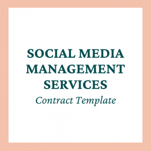 Social Media Management Services Contract Template - Coaches and Company