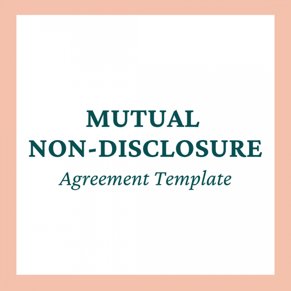 Mutual Non-Disclosure Agreement Template - Coaches and Company