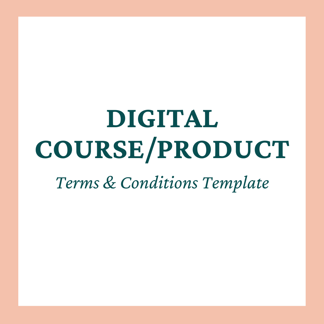 Digital Course/Product Terms & Conditions Template